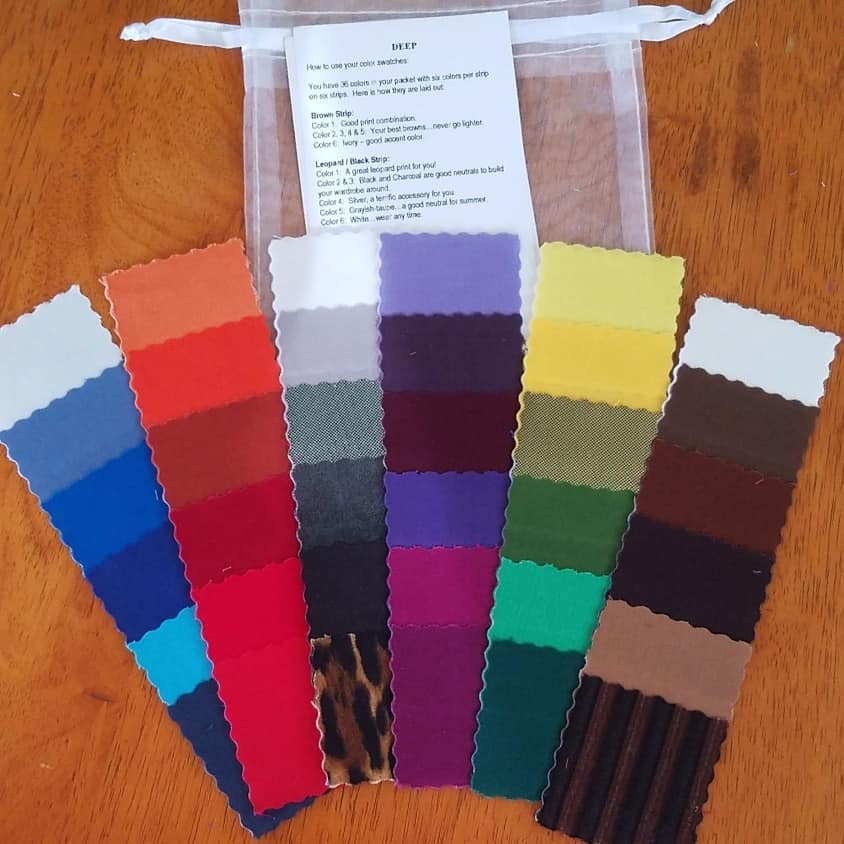 DEEP color code fabric swatches Tabitha Dumas Phoenix Image Consultant
