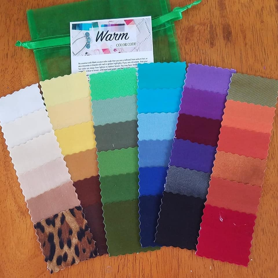 WARM color code fabric swatches Tabitha Dumas Phoenix Image Consultant