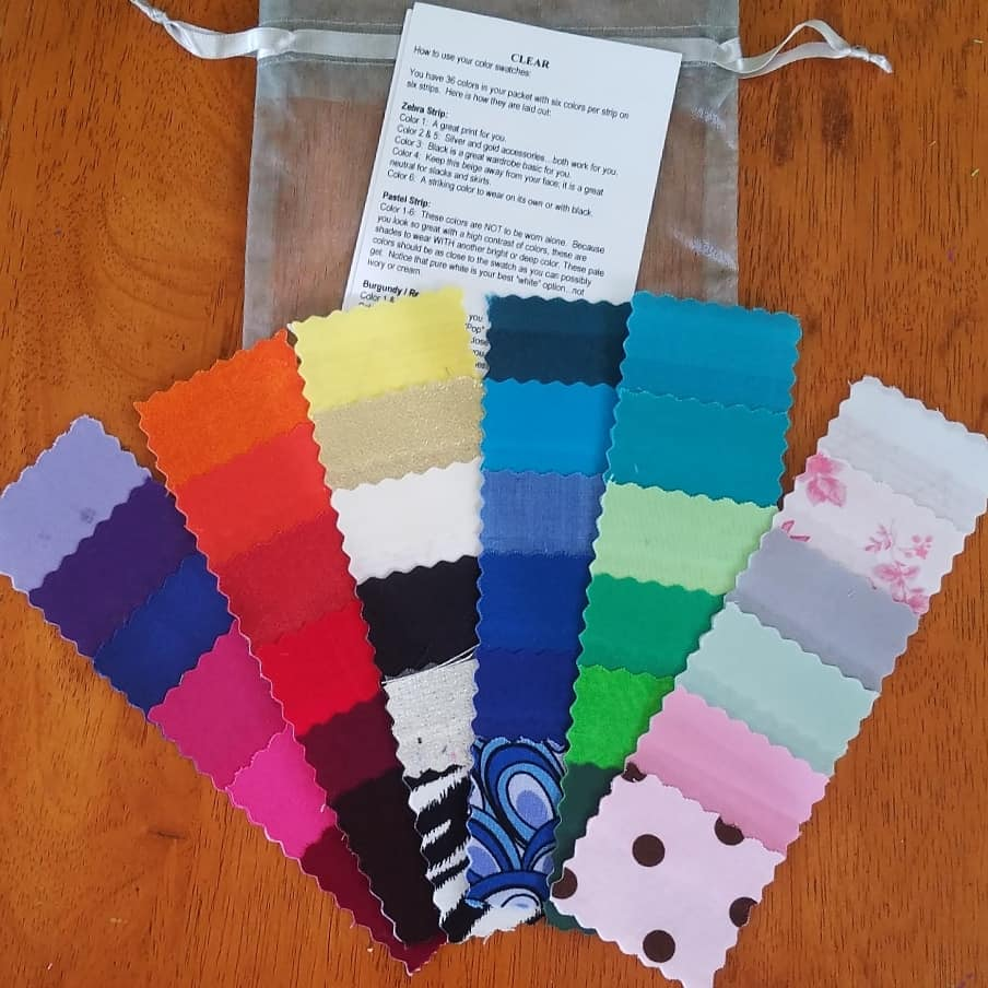 CLEAR Color Code Fabric Swatches (this is my old set, yours will include the Style Guide as pictured in the photos above)