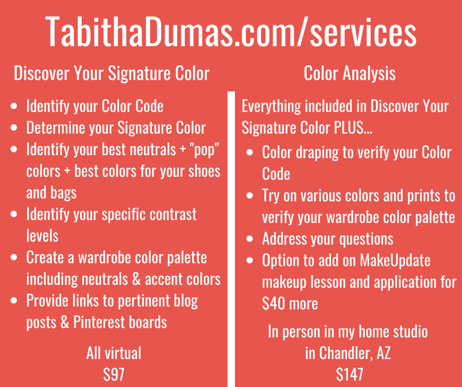 Phoenix color analysis and discover your signature color tabitha dumas phoenix image consultant