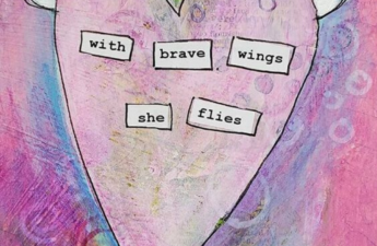 WITH BRAVE WINGS SHE FLIES do it afraid by Tabitha Dumas