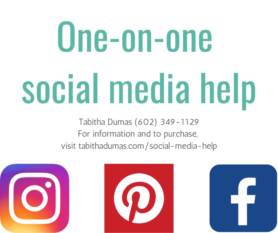 Social media help from Tabitha Dumas