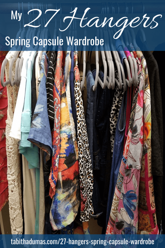 My 27 Hangers spring capsule wardrobe by Tabitha Dumas phoenix image consultant