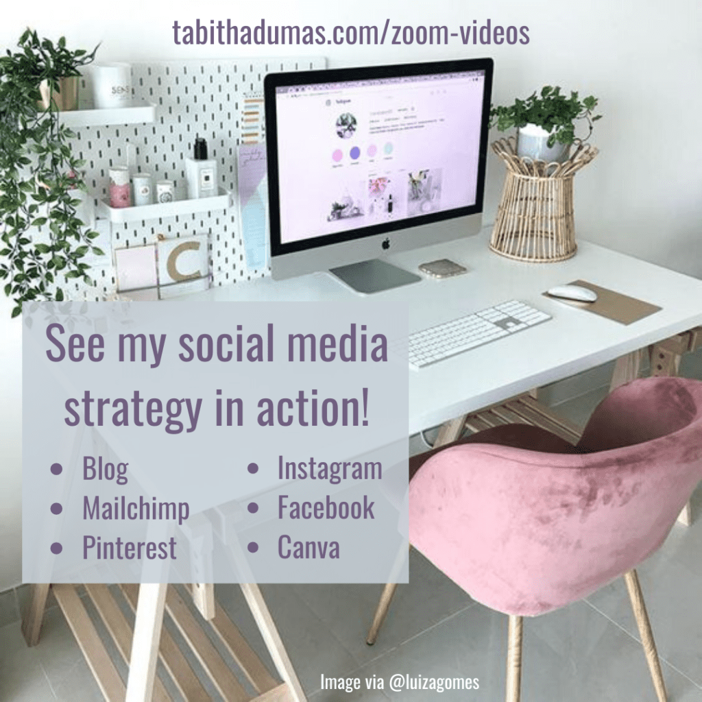 See my social media strategy in action! Zoom video and free worksheet download from Tabitha Dumas Phoenix Image Consultant