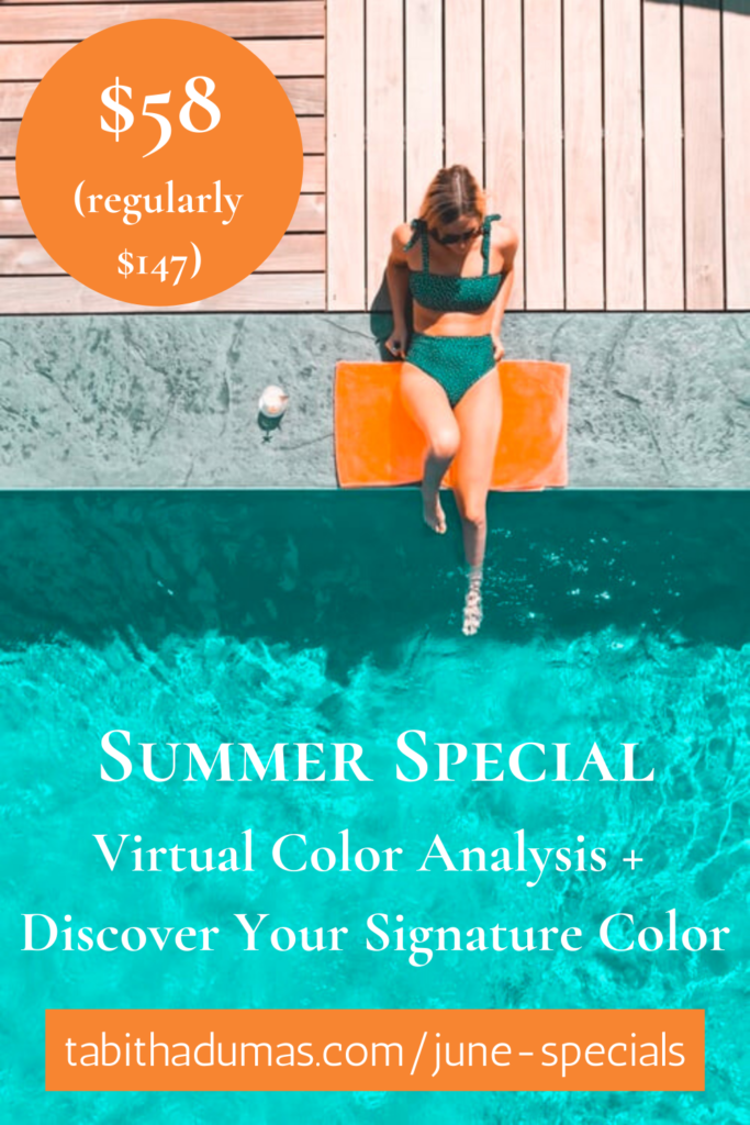 Summer Special Virtual Color Analysis + Discover Your Signature Color