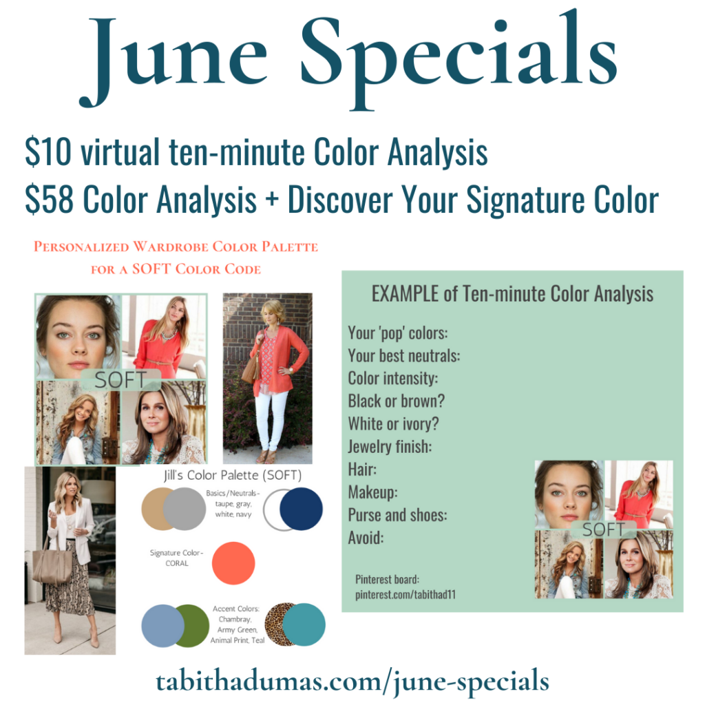 color analysis and discover your signature color Tabitha Dumas
