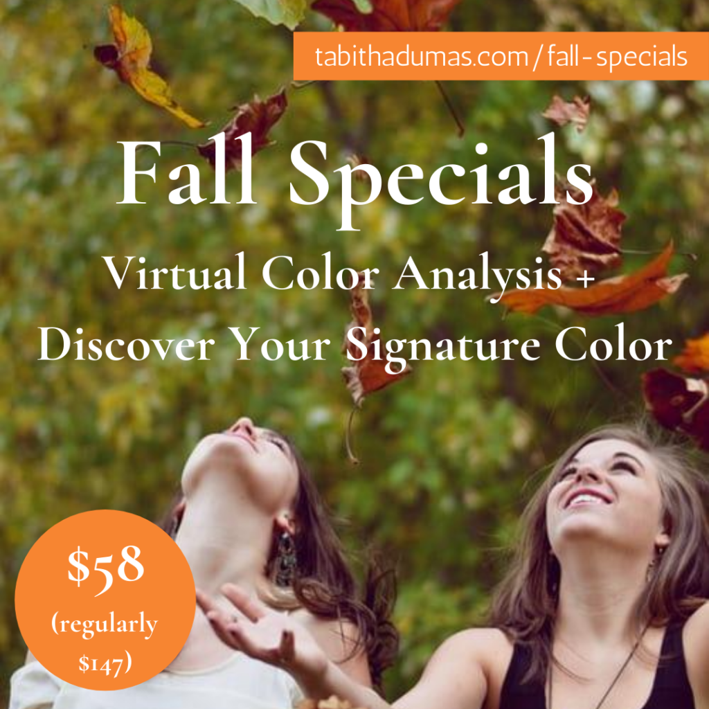 fall special Virtual Color Analysis + Discover Your Signature Color