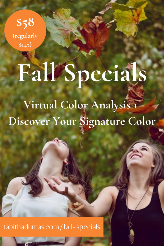 fall special Virtual Color Analysis + Discover Your Signature Color Tabitha Dumas Signature Color Style