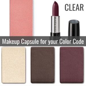Makeup Capsule for your Color Code CLEAR