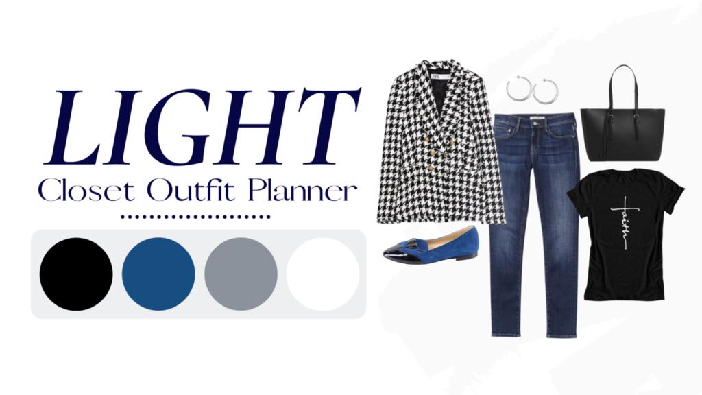 LIGHT Closet outfit planner Tabitha Dumas Signature Color Style