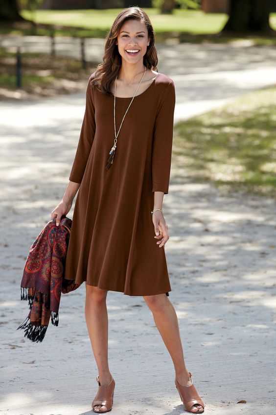 Little black dress can be brown for a Deep color code