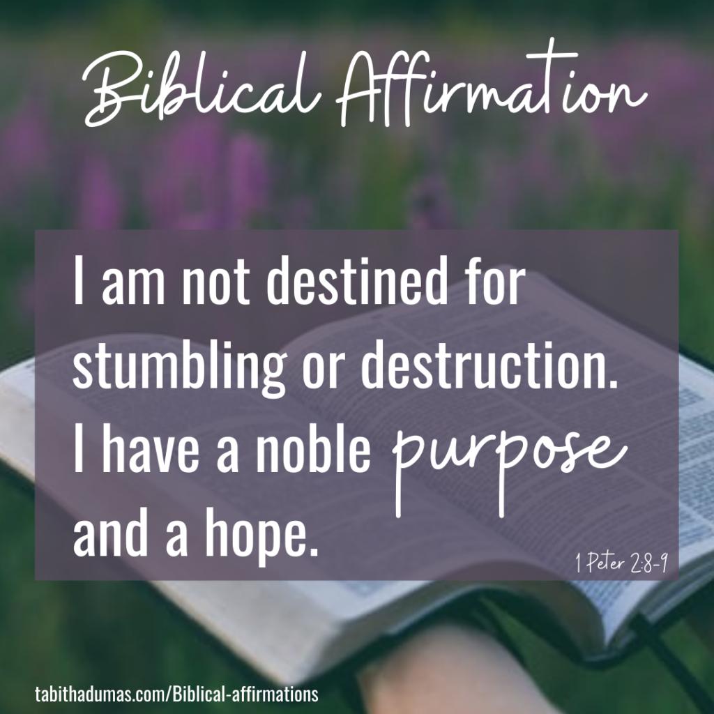 Biblical affirmation Tabitha Dumas