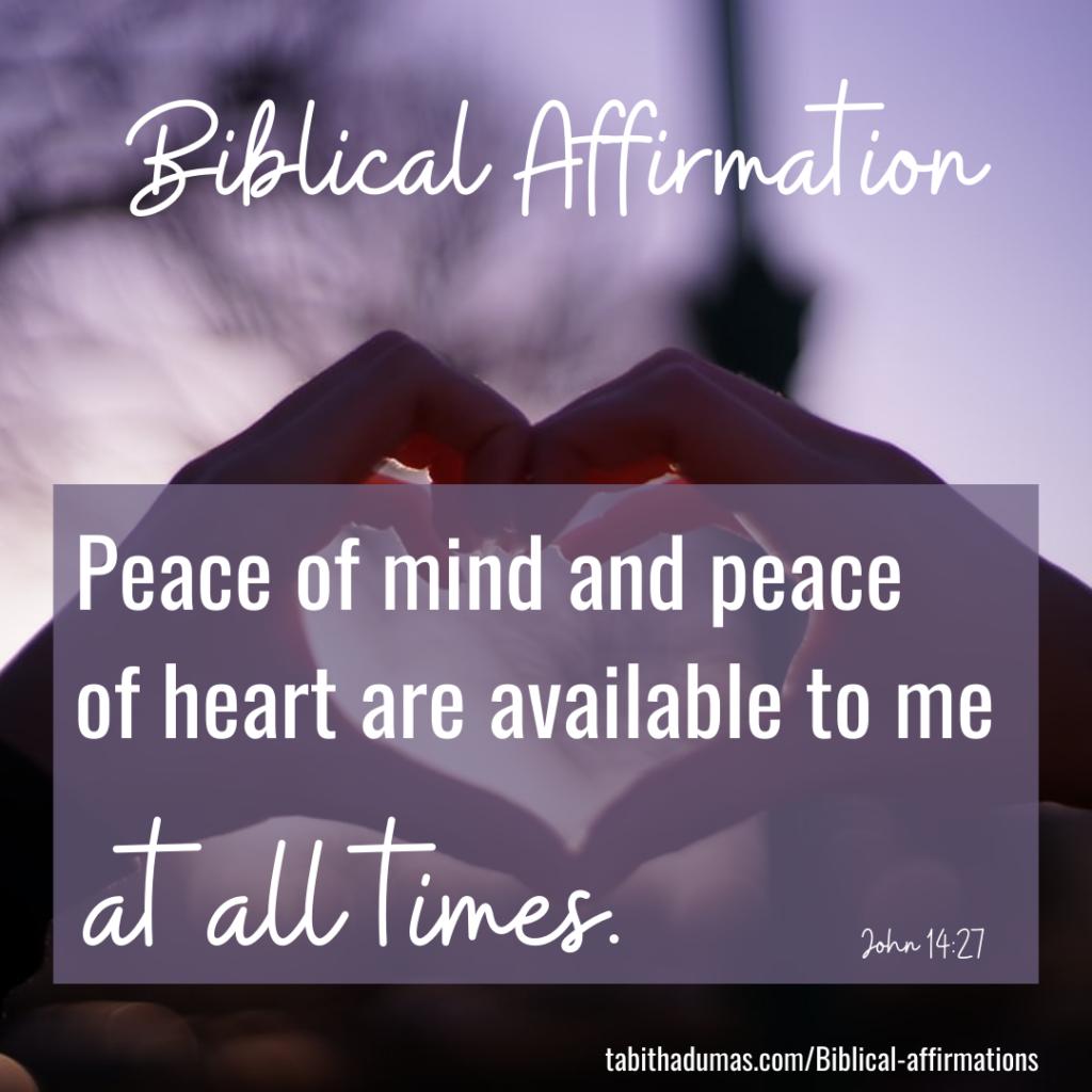 biblical affirmations tabitha dumas