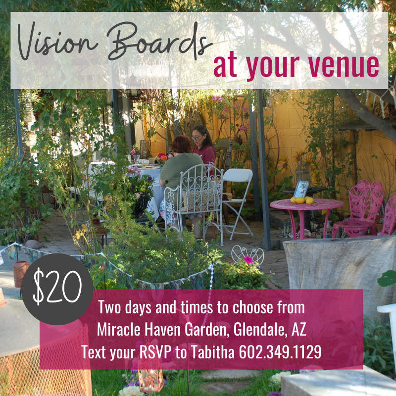 Vision boards at your Phoenix valley venue