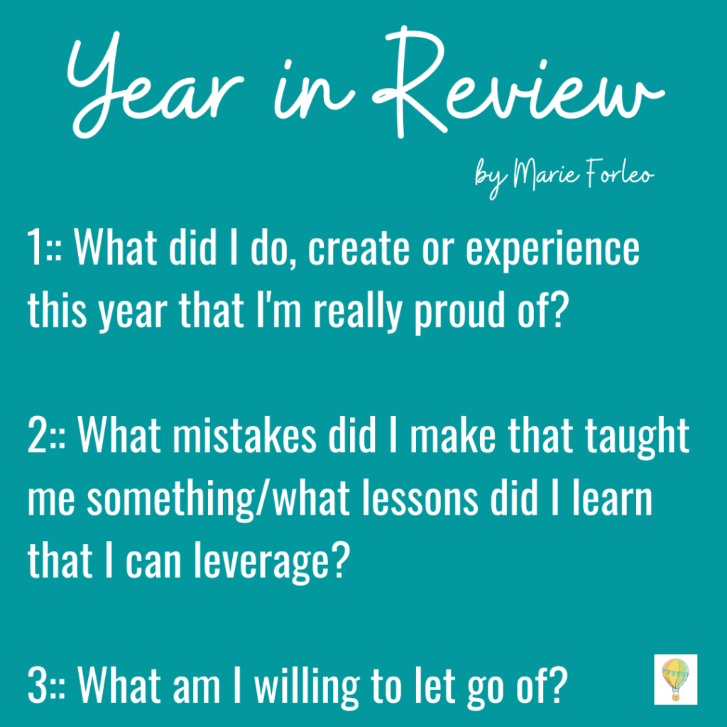 Year in Review by Marie Forleo s part of your intentional 2021